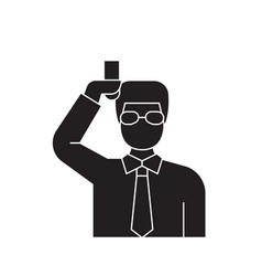 chemist scientist black concept icon vector image