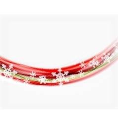 Christmas wave abstract background vector image