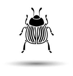 Colorado beetle icon vector
