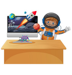 Computer with space scene vector