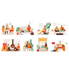 Cozy apartment set vector