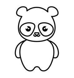 Cute and tender bear panda kawaii style vector