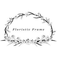 Delicate floristic frame flower design vector