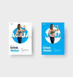 design a poster with a circle in center vector image