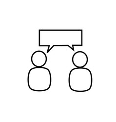 discussion icon vector image