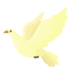 Dove icon cartoon style vector