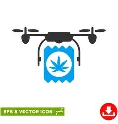 Drone Cannabis Delivery Eps Icon vector image