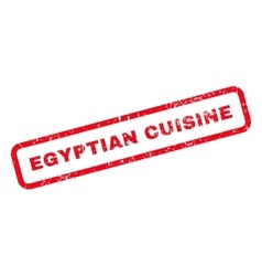 Egyptian Cuisine Text Rubber Stamp vector