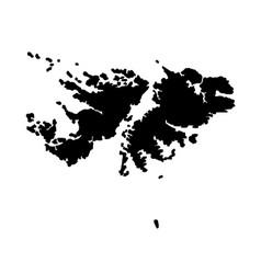 Falkland islands silhouette map vector