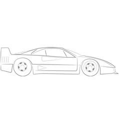 Ferrari F40 vector