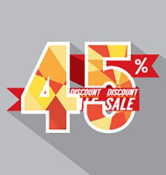 Flat Design Discount 45 Percent Off vector image