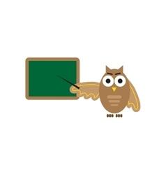 Flat icon on white background owl teacher vector