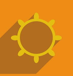 Flat web icon with long shadow ship steering wheel vector