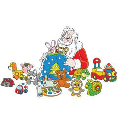 gifts of santa claus vector image