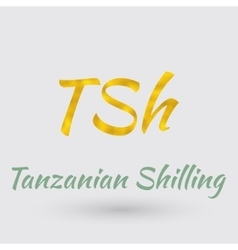 Golden Symbol of Tanzanian Shilling vector