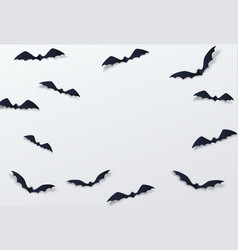 halloween bat decor background paper cut vector image