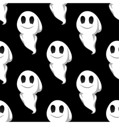 Halloween ghosts seamless pattern background vector