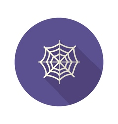 Halloween Spiderweb Flat Icon vector