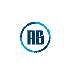 initial letter logo ab template design vector image