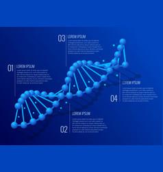 Isometric dna helix dna analysing concept vector