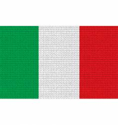 knitted Italian flag vector image