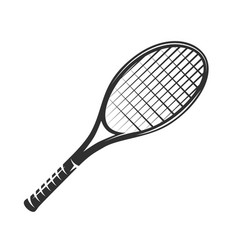 lawn tennis racket isolated on white background vector image