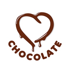 logo chocolate in a heart shape vector image