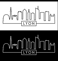lyon skyline linear style editable file vector image