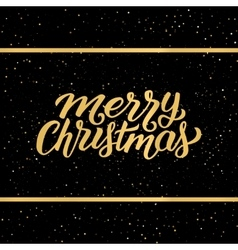 Merry Christmas lettering on greeting card vector