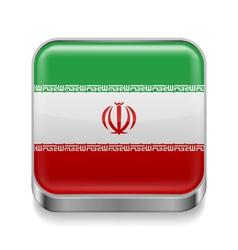Metal icon of Iran vector image