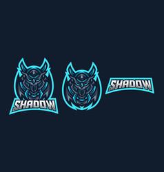 Ninja esport gaming mascot logo template vector