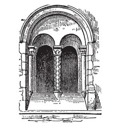 norman window numbers castles and vector image