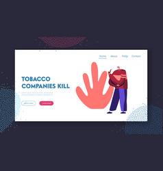 Old smoker enjoying tobacco and nicotine vector