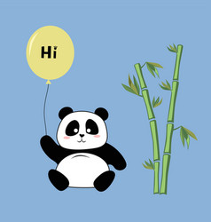 panda with a balloon vector image