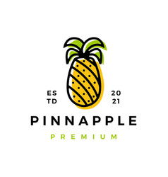 Pine apple logo icon vector