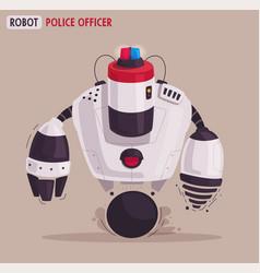 police drone robot patrol cop vector image
