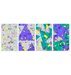 pop art color background set of memphis pattern vector image