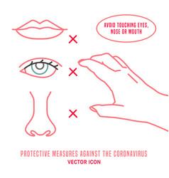 Protective measure against coronavirus icon vector