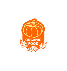 Pumpkin bright simple line icon logo vector