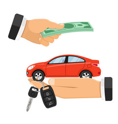 Purchase or rental car banner vector