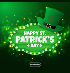 realistic st patricks day background and banner vector image