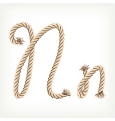 Rope alphabet Letter N vector image vector image