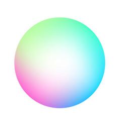 Round soft color gradient vector