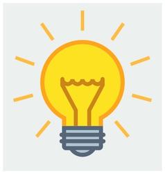 Shining light bulb poster vector image