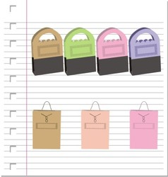 Shopping bags on paper vector