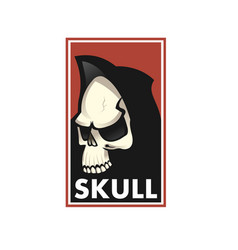 skull logo icon or skull of skeleton vector image