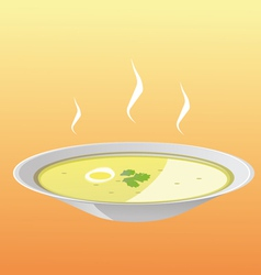 Soup plate vector