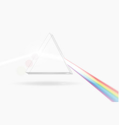 Spectrum prism picture transparent optical vector