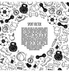 Sport frame circle white and black vector image