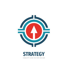 strategy business logo tempate design arrow vector image